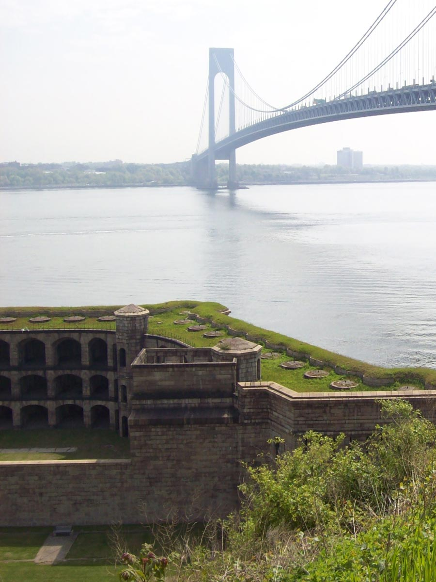 View of the bridge from the battery at Fort Wadsworth