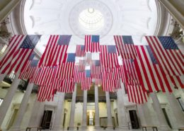 Flag Exchange art exhibit at Federal Hall 2017