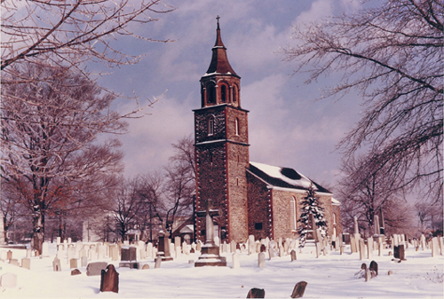 St. Paul's Church - snowy scene