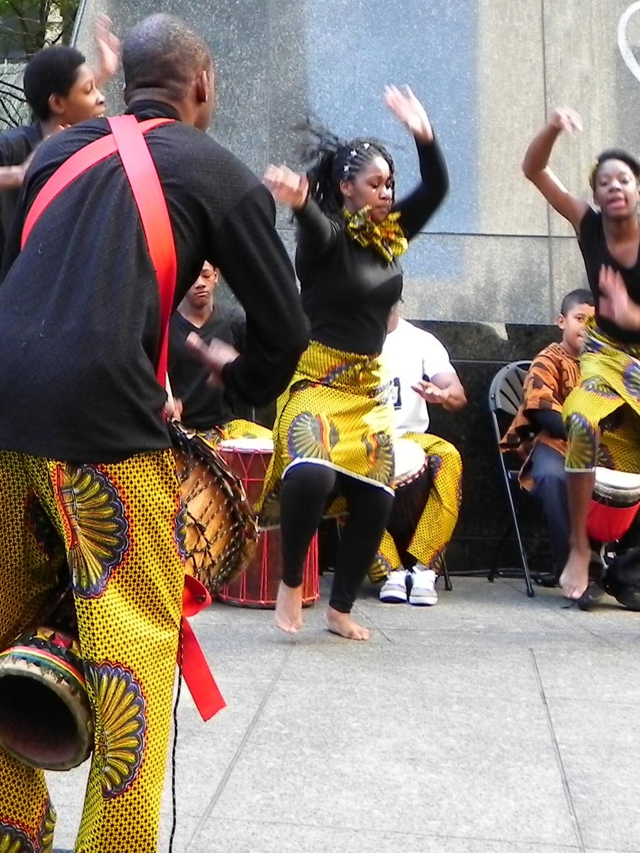 African Burial Ground Dance Performance