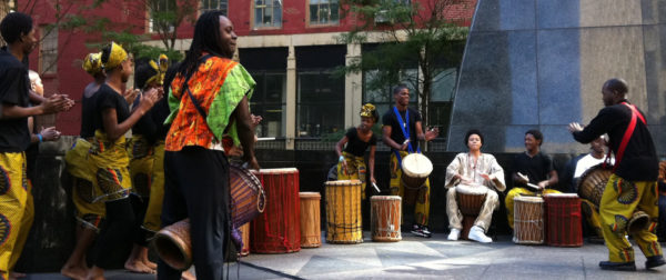 Dance performance at the African Burial Ground