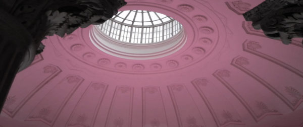 The dome of Federal Hall special events lighting