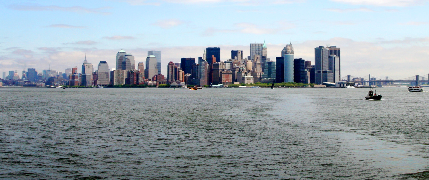 View of Manhattan from New York Harbor