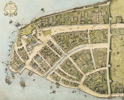 Map of old Nieuw Amsterdam