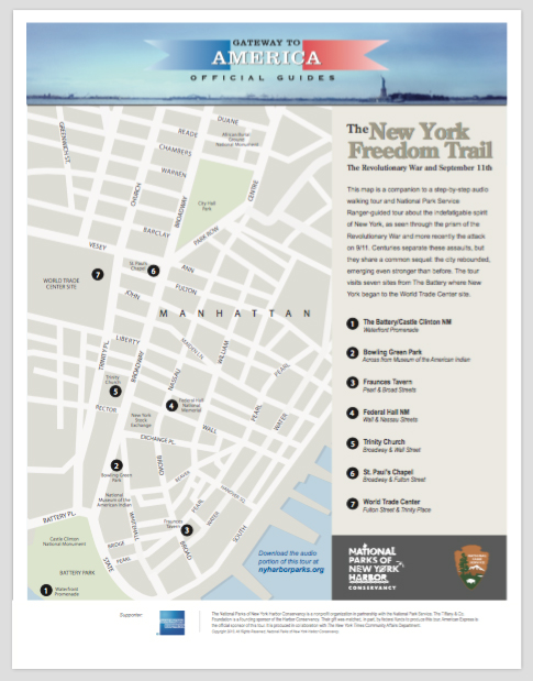 Walking Tour Cover - New York Freedom Trail